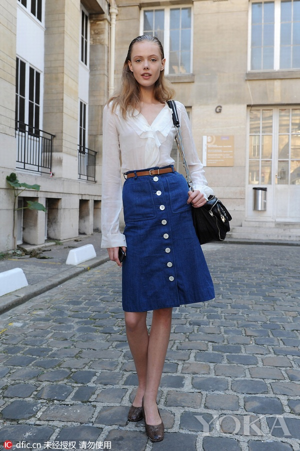 Denim is very busy in the summer wear denim skirts what kind of items?